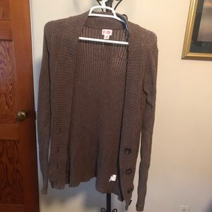 💥 4 for $20 SALE Brown Pocket Button Cardigan